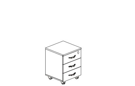 Тумба ящик с замком схема