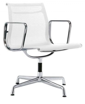 Кресло Eames Style Netweave Conference Chair EA 108 (белая сетка)
