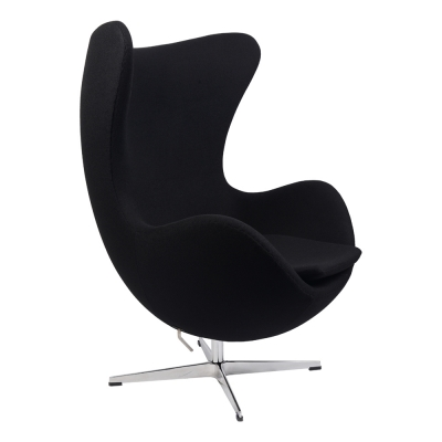 Кресло Arne Jacobsen Style Egg Chair Black wool