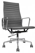 Кресло Eames Style HB Ribbed Office Chair EA 119  (кожа графит)