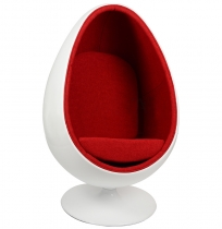 Кресло Ovalia Egg Style Chair Red