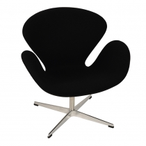 Кресло Arne Jacobsen Style Swan Chair Black