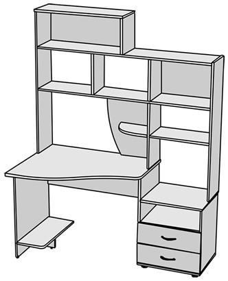 Стол в угловой компьютерный стол в
